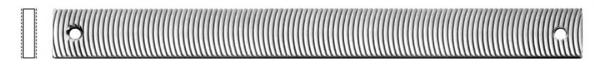 Piastra abrasiva, dentatura radiale