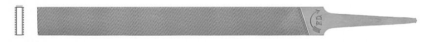 Bakelitfeile (Kunststofffeile), flachstumpf