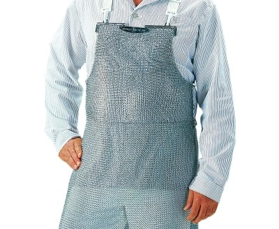 Protective Apron, stainless, magnetic, detectable, RFID