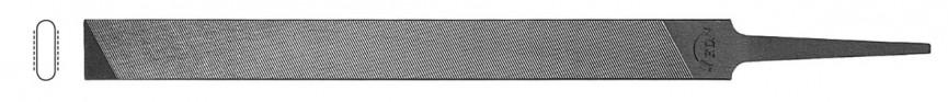 Flache Kettensägefeile für Tiefenbegrenzer, 2 runde Kanten ohne Hieb